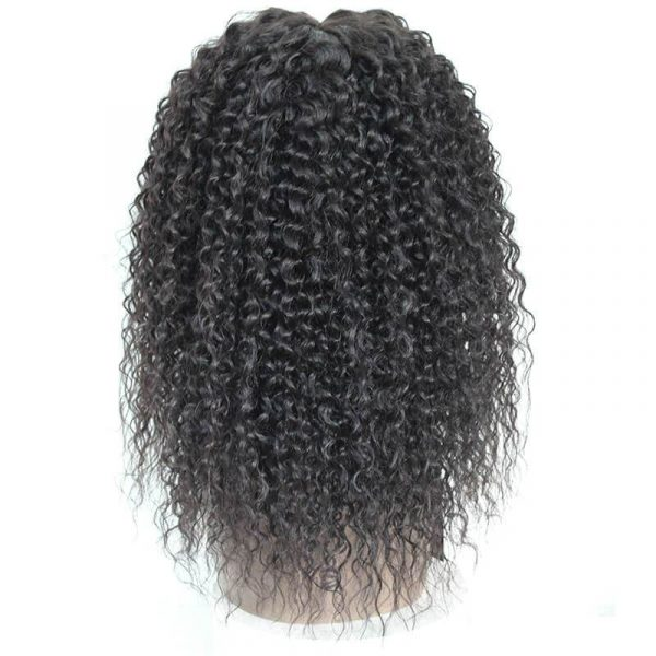Kinky Curly Synthetic Lace Front Wigs Mixed 30% Human Hair For Black Women - naturehairs