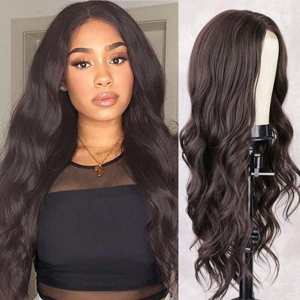 Long Body Wave Black Wig Synthetic Wigs for Women Natural Hair - naturehairs