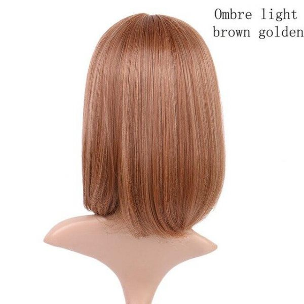 Straight Hair Wigs For Women Synthetic Wigs with Bangs BOB Hairstyle - naturehairs