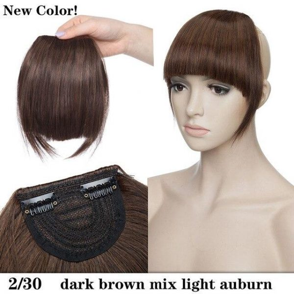 """8"""" Short Front Neat bangs Clip In Hair Extension - naturehairs"""