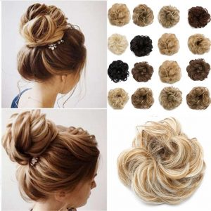 Synthetic Buns Hair Chignons Elastic Scrunchie Hair Extensions - naturehairs