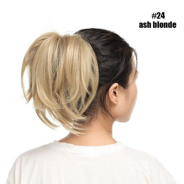 Women Claw Ponytail Clip in Hair Extensions Fake Hair Ponytail Hair Wavy - naturehairs