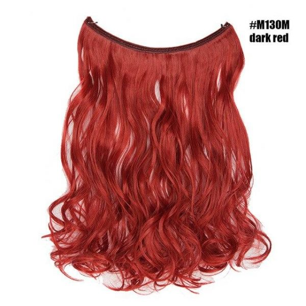 Synthetic Hair Extensions Invisible Wire No Clips In Hair Extensions - naturehairs