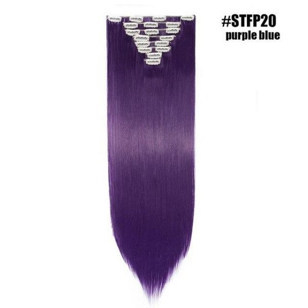 8pcs/set Clips in Hair Extensions Straight - naturehairs