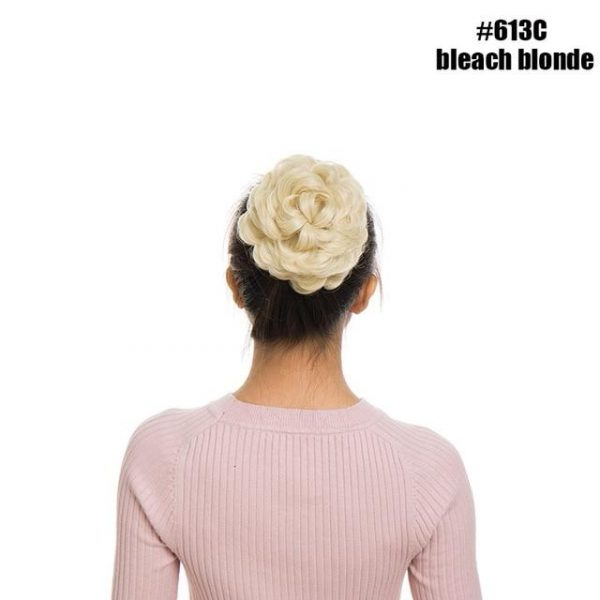 Synthetic Curly Chignon for Women Elastic Drawstring Clips Hair - naturehairs