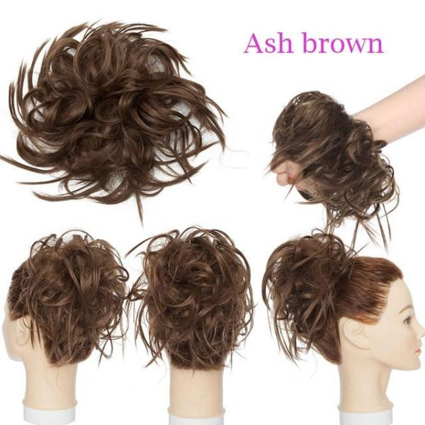 7 Inch Messy Hair Bun Hairpiece for Women Elastic Band - naturehairs