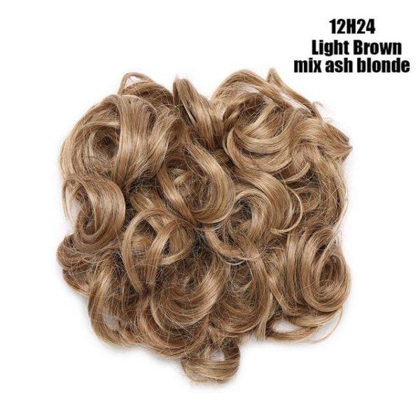 Messy Hair Bun Clip in Hair Extension Curly Hair Chignon Hair Messy Chignon For Women Wedding - naturehairs