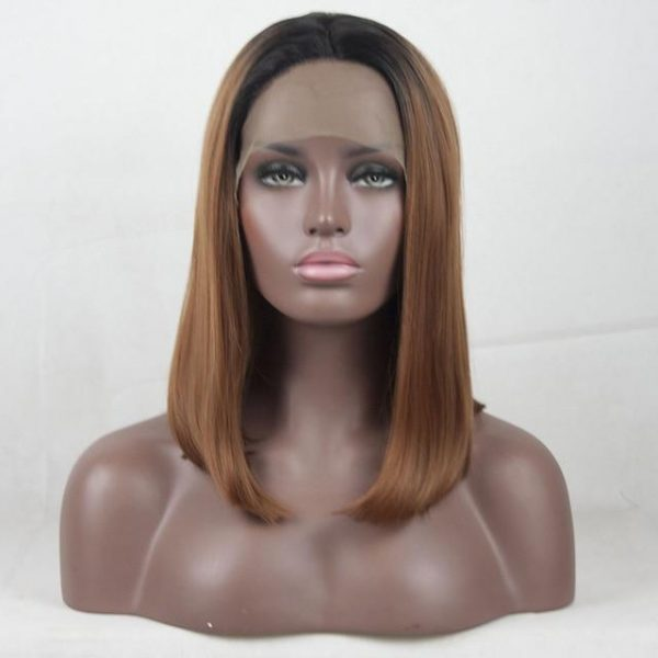 180% Lace Front Wigs Synthetic Wig 13*4 Short Bob Wigs - naturehairs