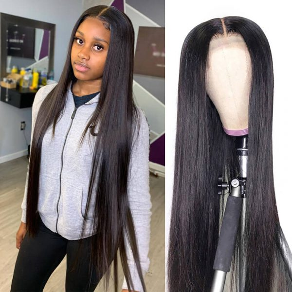 13x6x1 Straight Human Hair Wigs Lace Front Wig With Baby Hair (1)