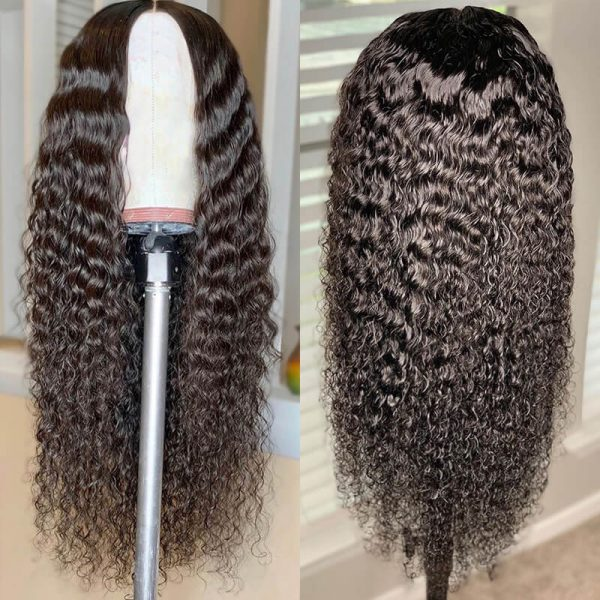 Glueless 13x4 Lace Front Human Hair Wigs Curly Lace Front Wig (3)