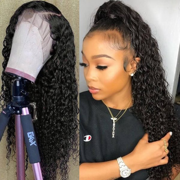 Glueless 13x4 Lace Front Human Hair Wigs Curly Lace Front Wig (6)