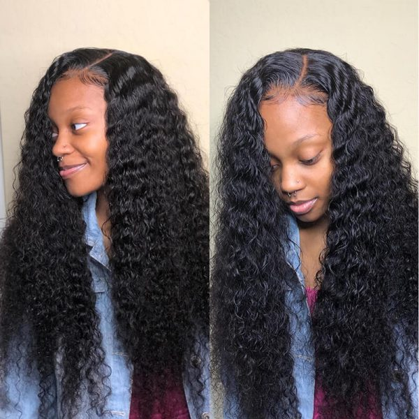 Glueless 13x4 Lace Front Human Hair Wigs Curly Lace Front Wig (8)