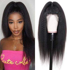 YAKI Kinky Straight 13x4 Lace Front Wigs (1)