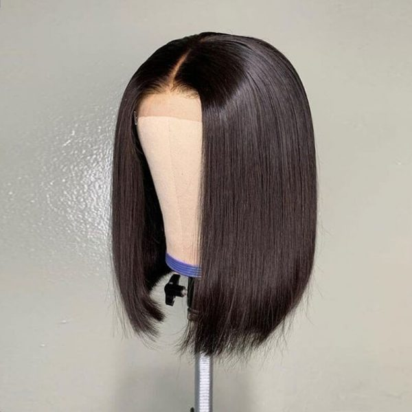 Short Straight Lace Front Human Hair Wigs (3)