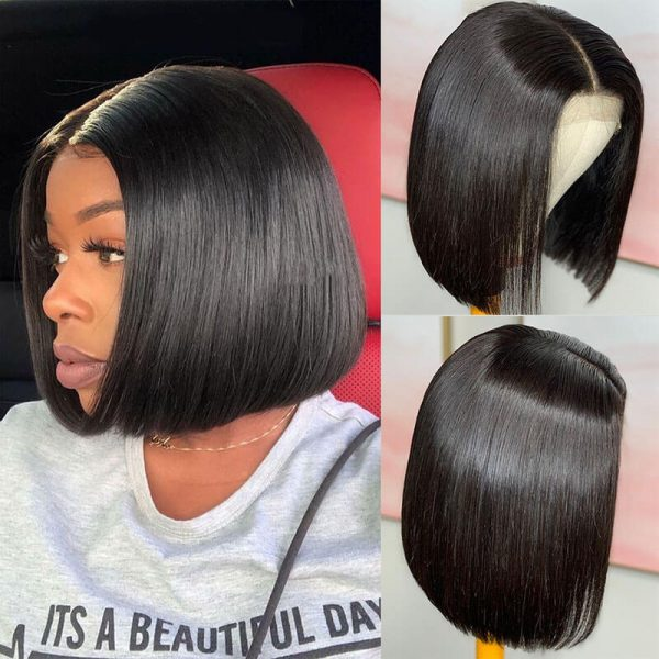 Short Straight Lace Front Human Hair Wigs (4)