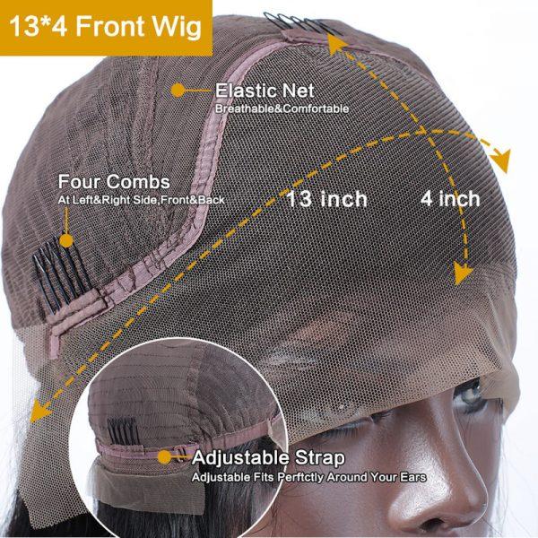 Wavy Short Bob Wig cap size