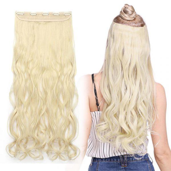 Long WavyClip In Hairpiece