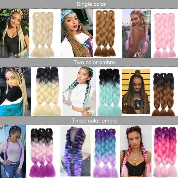 3pcs/pack 53colors Jumbo braiding hair