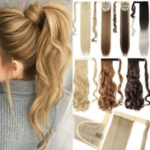 synthetic wrap around ponytail