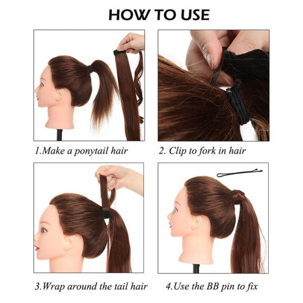 Long Straight Clip In Ponytail Hair Extensions