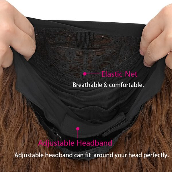 24inch Water Wave Headband Wig Glueless Synthetic Hair