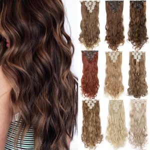 8PCS/set Clip In on Hair Extensions