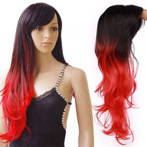 Cosplay Wig Synthetic Long Natural Straight Side Part Hair