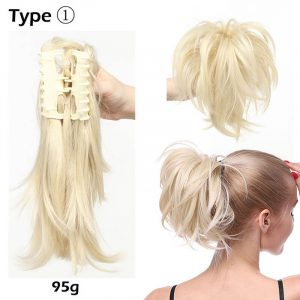 synthetic bendable claw clip ponytail
