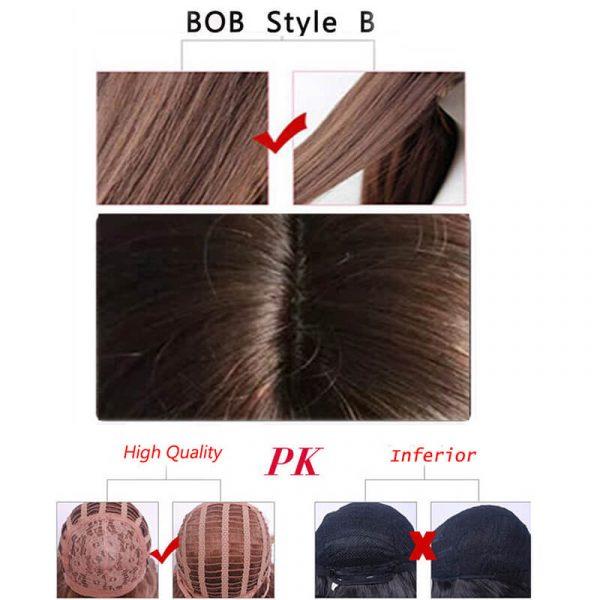 synthetic Straight short BOB WIG