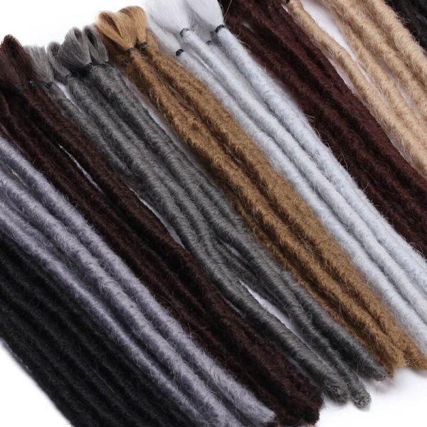 12inch Handmade Dreadlocks men Short Dreads Crochet Braid Hair