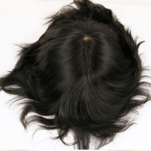 Men Hairpieces Silky Straight Full Silk Base
