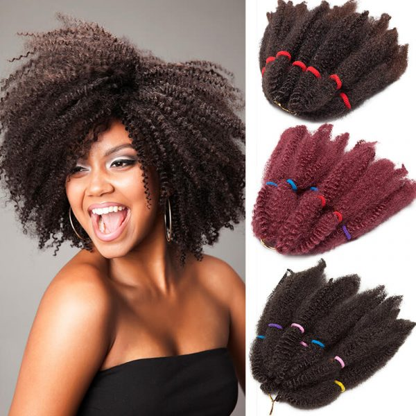 Synthetic 11inch Ombre Kinky Twist Hair