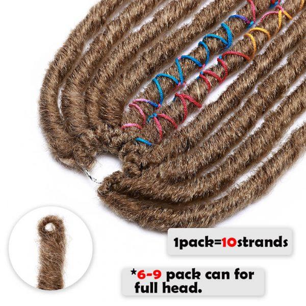 18inch Faux Locs Crochet Hair
