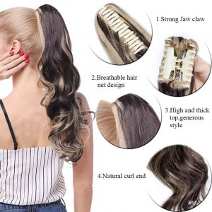 Big Grab Claw Clip In Ponytail Hair Extension