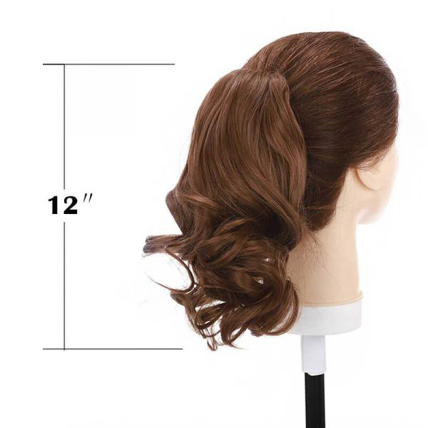 synthetic short Jaw claw ponytail