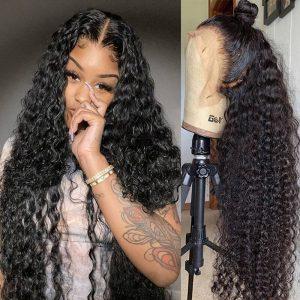 Deep Wave Frontal Wig Human Hair