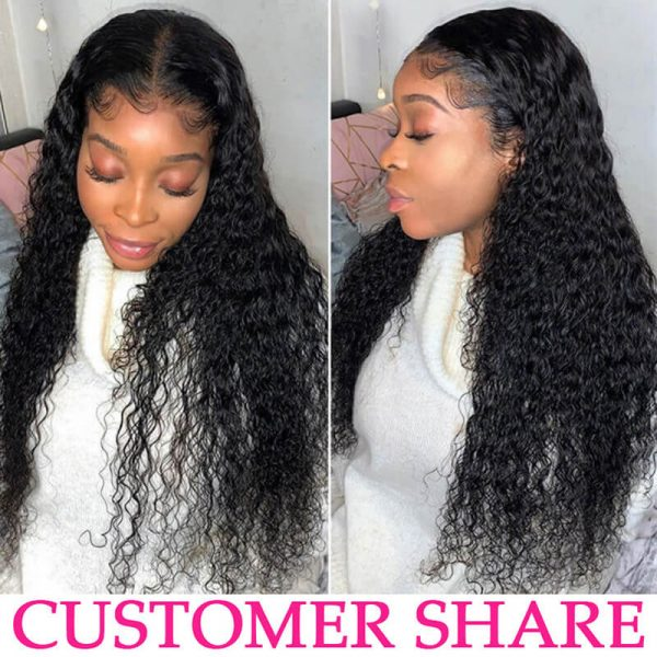 Deep Wave Wig Lace Front Human Hair